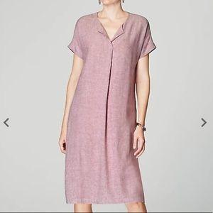 pureJill Linen Blend Shift Dress
